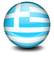 A ball with the flag of Greece vector image vector image