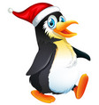 a penguin character on white background vector image vector image