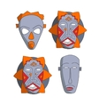 African masks set vector image