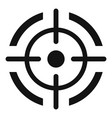 aim target icon simple style vector image vector image