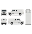 armored truck mockup vector image vector image