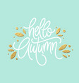 autumn - hand drawn typography with line vector image vector image