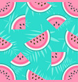 background with watermelons vector image vector image