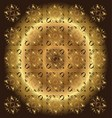 Beautiful Circle Brown Golden Floral Background vector image