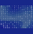 binary computer code background vector image vector image