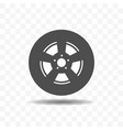 black silhouette tire icon vector image