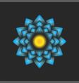blue big dahlia flower logo floral decoration vector image vector image
