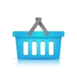 blue shopping cart vector image vector image