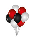 bunch of birthday balloons for party and vector image