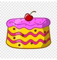 cake icon cartoon style vector image
