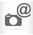 camera with e mail symbol icon vector image vector image