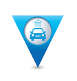 car wash pointer blue vector image vector image