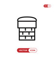 chimney icon vector image