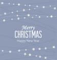 christmas silver stars vector image