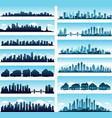 City skylines panoramic vector | Price: 1 Credit (USD $1)
