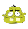 Cute dumb monster head vector image vector image