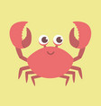 cute red crab cartoon vector image