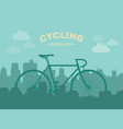 cycling in the city flat style vector image