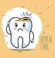 dental care kawaii comi character vector image