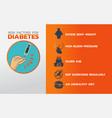 diabetes icon design infographic health medical vector image vector image