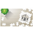 dream house concept with puzzle house vector image vector image