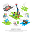 ecology isometric composition vector image