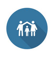 family insurance icon flat design vector image vector image