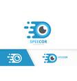 fast eye logo combination speed optic vector image vector image
