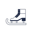 figure ice skate isolated icon vector image vector image