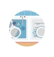 Flat icon for Kitchen sink vector image vector image