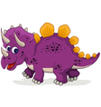 funny dinosaur cartoon vector image