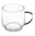 glass coffee cup clean transparent tea mug mockup vector image vector image