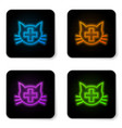 glowing neon veterinary clinic symbol icon vector image