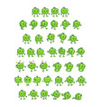 green apple game sprites vector image vector image