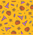 halloween traditional symbols background vector image vector image