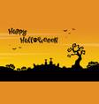 happy halloween beauty scenery silhouette vector image vector image