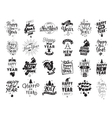 Happy New Year typographic emblems set vector image vector image