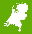 holland map icon green vector image vector image