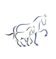 Horse and foal vector image