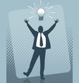 idea of the businessman vector image