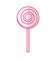 isolated lollipop candy on stick vector image vector image