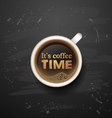 its time for coffee vector image