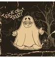 Little Ghost And Pumpkin Halloween Background vector image vector image