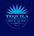 logo tequila blue agave label emblem mexican vector image