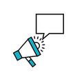 megaphone and speech bubble vector image
