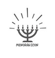 menorah icon simple flat style vector image