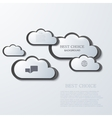 modern clouds infographic background vector image vector image