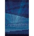 Mosaic abstract sea or ocean shore vector image vector image