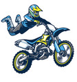 motocross rider doing superman trick vector image vector image