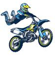 motocross rider doing superman trick vector image vector image